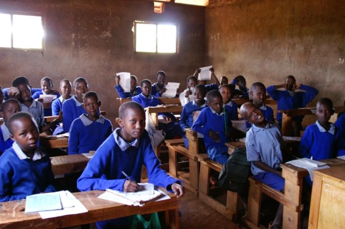 Grade 4 in Saikeri Primary School, Ngong Hills, Kenya