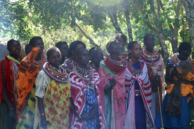 Samburu women sang beautifully