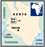 I stayed somewhere between Nairobi & Tanzania border, we drop to the forest past Dol Dol :)